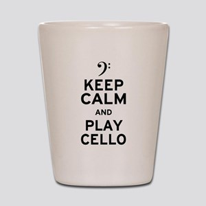 Keep Calm Cello Shot Glass