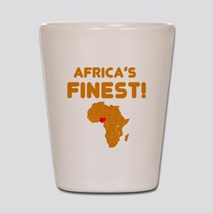 Nigeria map Of africa Designs Shot Glass