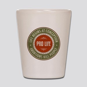 Life Begins At Conception Shot Glass