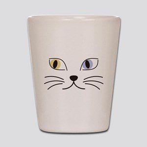 Charming Odd-eyed Cat Shot Glass