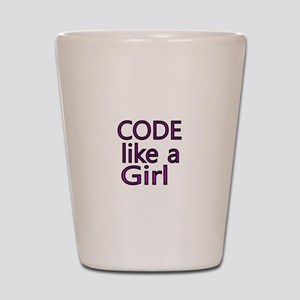 Code like a Girl Shot Glass
