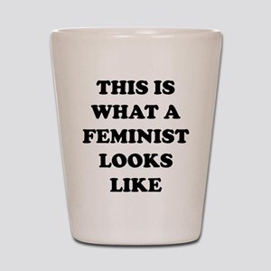 This Is What A Feminist Looks Like Shot Glass