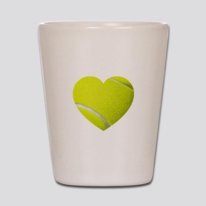 Tennis Heart Shot Glass