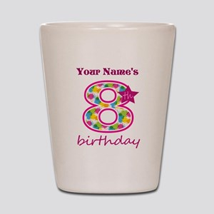 8th Birthday Splat - Personalized Shot Glass