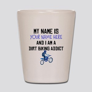 Custom Dirt Biking Addict Shot Glass