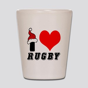 I Love Rugby Shot Glass
