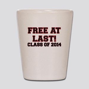 FREE AT LAST CLASS OF 2014 RED Shot Glass