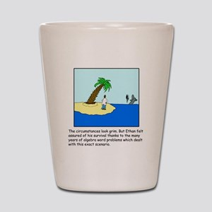Deserted Algebra Island (C) Shot Glass