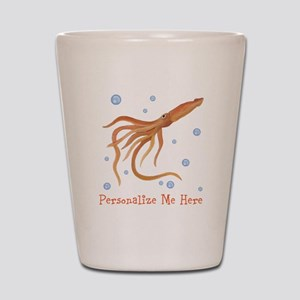 Personalized Squid Shot Glass