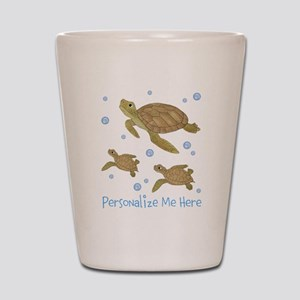 Personalized Sea Turtles Shot Glass