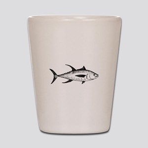 Yellowfin Tuna Logo (line art) Shot Glass