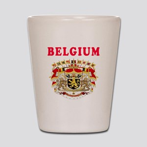 Belgium Coat Of Arms Designs Shot Glass