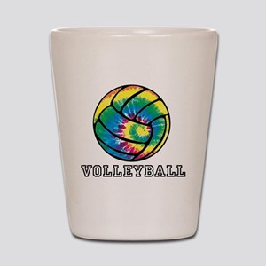 Tie Dyed Volleyball Shot Glass