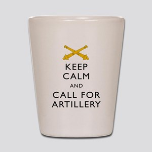 Keep Calm Call for Artillery Shot Glass