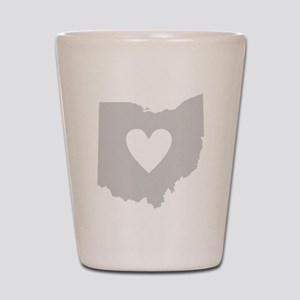 Heart Ohio Shot Glass