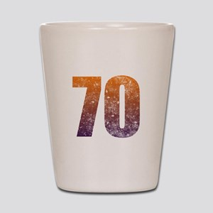 Cool 70th Birthday Shot Glass