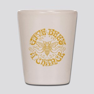 Give Bees a Chance II Shot Glass