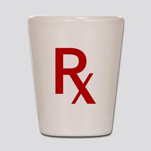 Red Rx Shot Glass