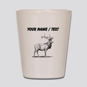 Custom Elk Sketch Shot Glass