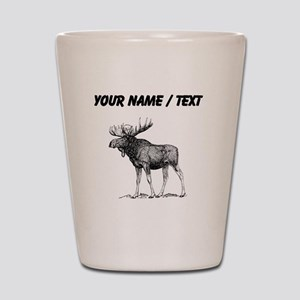 Custom Moose Sketch Shot Glass