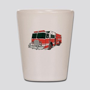 Red Fire Truck Shot Glass