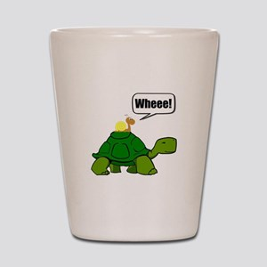 Snail Turtle Ride Shot Glass