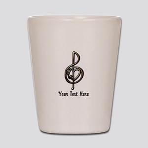 Music Treble Clef Embossed Look Customi Shot Glass