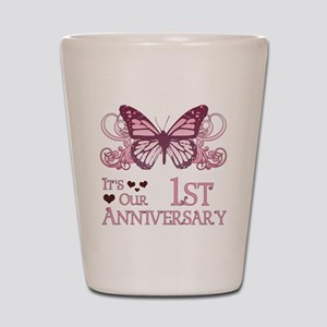 1st Wedding Aniversary (Butterfly) Shot Glass