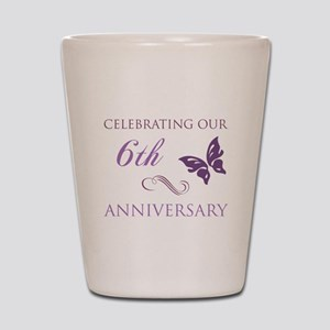 6th Wedding Aniversary (Butterfly) Shot Glass