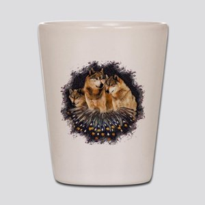Golden Wolves Shot Glass