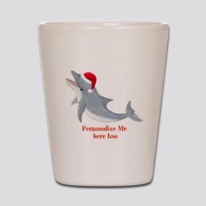 Personalized Christmas Dolphin Shot Glass