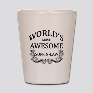 World's Most Awesome Son-In-Law Shot Glass
