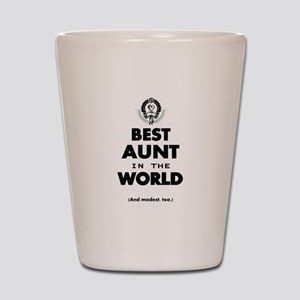 The Best in the World Best Aunt Shot Glass
