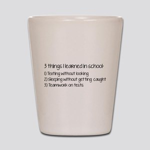 3 Things I Learned In School Shot Glass
