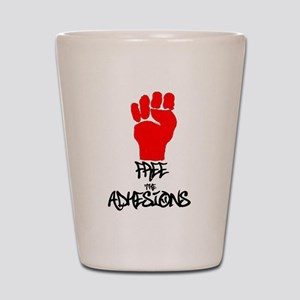 Free The Adhesions T4 Shot Glass