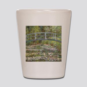 Monet Bridge over Water Lilies Shot Glass