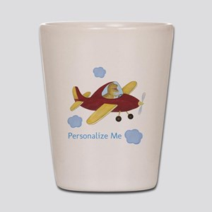 Personalized Airplane - Dinosaur Shot Glass