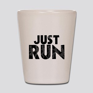 Just Run Shot Glass
