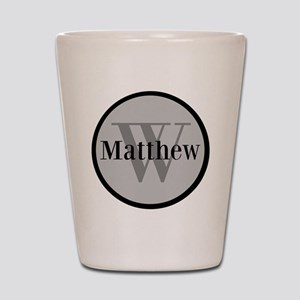 Gray Name and Initial Monogram Shot Glass