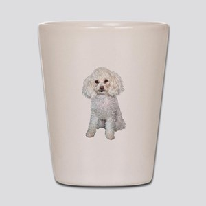 Poodle - Min (W) Shot Glass