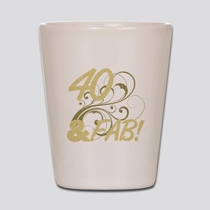 40 And Fabulous (Glitter) Shot Glass