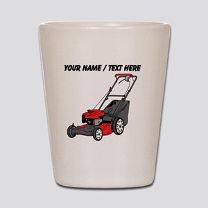 Custom Red Lawnmower Shot Glass