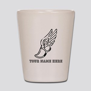 Custom Black Running Shoe With Wings Shot Glass