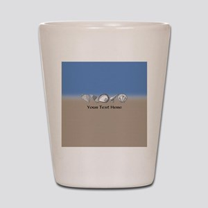 Beach Seashell Theme Art Personalizable Shot Glass
