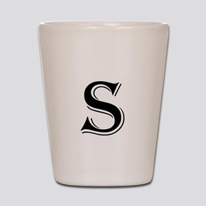 Fancy Letter S Shot Glass