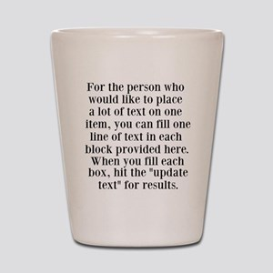Lines of Text to Personalize Shot Glass