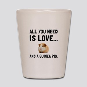 Love And A Guinea Pig Shot Glass