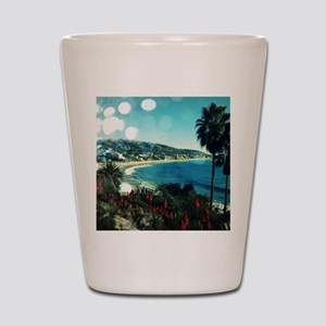 laguna Beach,aqua lights Shot Glass