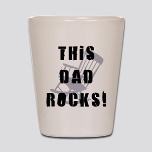 This Dad Rocks Shot Glass
