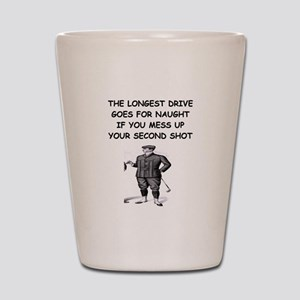 golf humor gifts and t-shirts Shot Glass